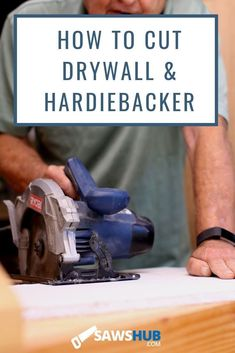 Learn 4 different ways to cut cement and hardie board using score and snap or a circular saw, jigsaw, angle grinder or tile saw. Man Projects, Wood Projects, Used Power Tools, Spring Cleaning Checklist, Diy Crafts For Adults, Portland Cement, Tile Saw, Circular Saw, Stone Veneer
