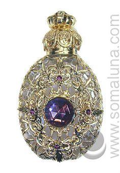 Clear Oval Perfume Bottle