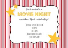 Birthday Party Ticket Invitation Diy Digital By Kristenmcgillivray