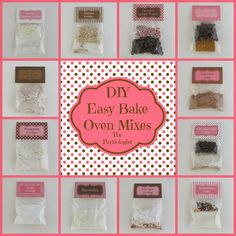 Save money and make your own Easy Bake Oven Mixes! Recipes and free printable labels by The Partiologist.