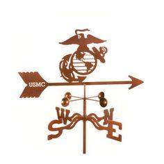 EZVaneInc Marines Weathervane with Post Mount