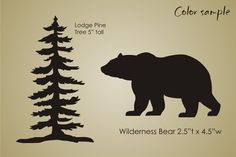 STENCIL Rustic Mountain Lodge Pine Tree Bear Wilderness Cabin Decor sign U Paint is creative inspiration for us. Get more photo about diy home decor related with by looking at photos gallery at Pine Tree Silhouette, Silhouette Painting, Animal Silhouette, Bear Stencil, Tree Stencil, Stencils, Bear Signs, Cabin Signs, Nursery Paintings