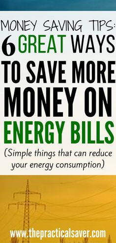 When your utility consumption or energy bills are skyrocketing, you may need to find ways on how to save more money on energy bills. This post details simple, easy ways you can adopt that can or will make additional savings to or save you money in the short or long run. #energy #bills #electricity #money #investments