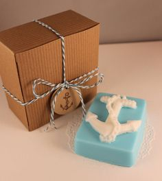 Anchor Soap Gift Set - Nautical Soap - Gift for her - Gift for him - Nautical Home Decor - Novelty Soap - New