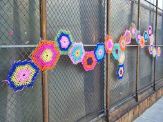 Yarn bombed. Simple and eye catching! It's spring, let's get out there and stitch up some spaces :)