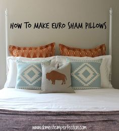 Tutorial on making a 26 x 26 inch euro sham pillow with flanges (or a 28 x 28 inch without)