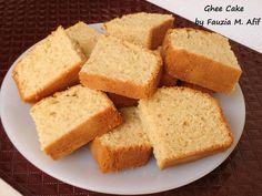 Ghee Cake - Fauzia's Kitchen Fun - Blakeley Elcox Ghee Cake Recipe, Cooking With Ghee, Baking Recipes, Cake Recipes, Milk And Eggs, Evening Snacks, Moist Cakes, Tea Cakes