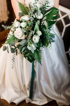 wedding bouquets - photo by Alicia Wiley Photography http://ruffledblog.com/copper-and-greenery-vow-renewal