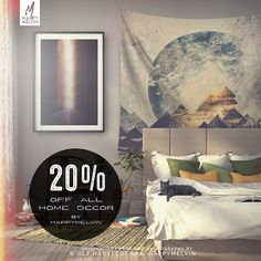 Great day if your into HappyMelvin #homedecor Society6 is giving you 20% off + Free shipping worldwide today!