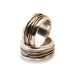 handmade rings with silver and gold