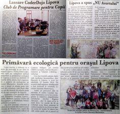 Voluntarii din Lipova au apărut în 3 articole din ziarul Informația Lipovei cu acțiunile desfășurate în ultima perioadă. Suntem foarte mândri!
