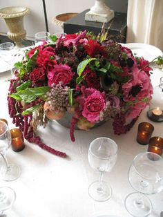 How do you feel about the deep red trailing vine in this? Picture Wedding Centerpieces, Centerpiece Ideas, Table Decorations, Self Sustaining Farm, Beautiful Inside And Out, Mother Of The Bride, Getting Married, Wedding Planning, Reception
