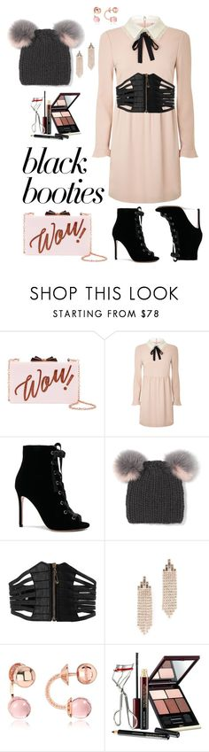 """Sin título #187"" by carolycia ❤ liked on Polyvore featuring Ted Baker, RED Valentino, Gianvito Rossi, Eugenia Kim, Rebecca Minkoff, Rebecca and Kevyn Aucoin"