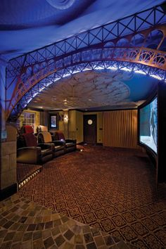 ♂ masculine interior Game room Home Theater Paris Theater
