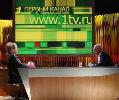 Speaking Of Russian TV, Guess Who Did 'The Pozner Show' On Channel One In Moscow…