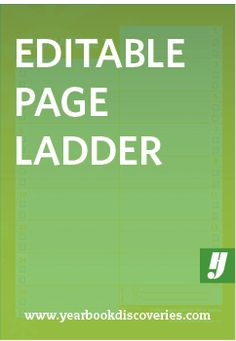 Plan and adjust yearbook content easily with this editable page ladder.