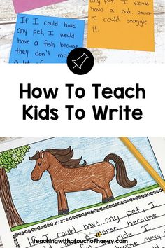 Get your kids writing with fun, engaging activities. These ideas are perfect if you are a parent trying to get your child to write at home or a teacher working in the classroom or through distance learning, Kindergarten Writing, Kids Writing, Teaching Writing, Writing Activities, Teaching Kids, Writing Lesson Plans, Writing Lessons, How To Teach Kids, Report Writing