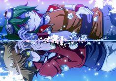 Tags: Anime, Pixiv Id 396980, Yu-Gi-Oh! ARC-V, Yu-Gi-Oh! GX, Yu-Gi-Oh!, Sakaki Yuya, Juudai Yuuki