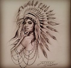 Tattoo sketch on point