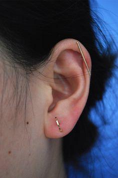 Kathleen Whitaker 14k Stick Stud Earring