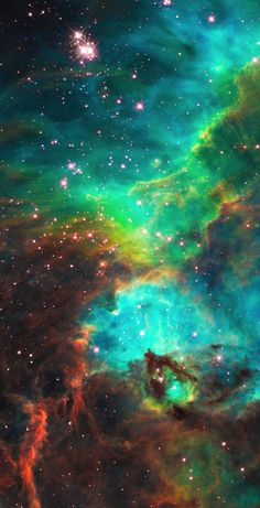 Star Cluster NGC 2074 in the Large Magellanic Cloud Hubble  a small portion of nebula near the region a firestorm of stellar creation,  triggered by a nearby supernova explosion.  ≈ 170,000 light-years away near the Tarantula nebula;  most active star-forming region of Local Group galaxies. Credit: NASA/ESA/Hubble Images