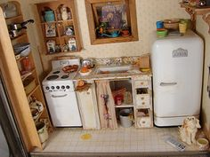 Uneeda Bread Kitchen Scene 1:12 Scale Dollhouse Miniature | by MiniatureMadness