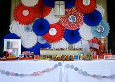 patriotic party for the 4th of July or Memorial Day