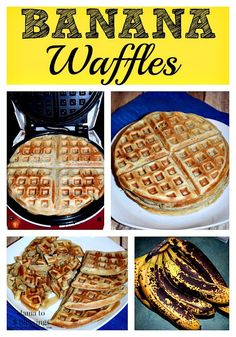 Banana, Banana Waffles, Breakfast, Homemade Recipe, Save The Ripe Banana's To Make Banana Waffles Brunch Recipes, Baby Food Recipes, Cooking Recipes, Banana Breakfast Recipes, Mexican Breakfast, Crepe Recipes, Ripe Banana Recipes Healthy, Breakfast Pizza, Breakfast Bowls