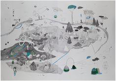 Hélène Duclos - Constatations #1 - mine graphite sur papier - 100 x 140 cm