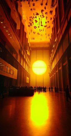 """Artificial Sun"" by Olafur Eliasson. Tate Modern, London."