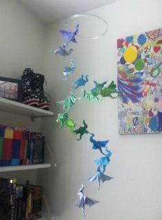 origami dragon mobile
