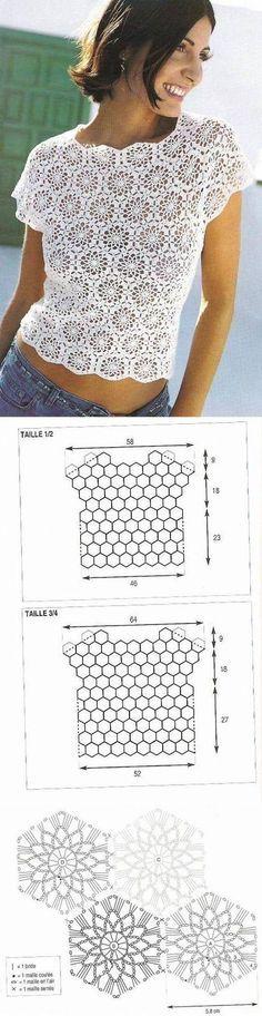 Blusa de Crochet (Crochet e moda)