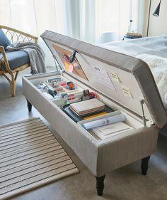 Room Design Bedroom, Room Ideas Bedroom, Home Room Design, Study Room Decor, Bench For Bedroom, Ikea Room Ideas, Living Room Bench, Living Room Decor Cozy, Bedroom Stuff