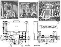 Whitemarsh Hall, floor plan.
