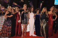 Here come the girls: Loose Women was well represented at the star-studded bash, with Jane Moore, Nadia Sawalha, Kaye Adams, Andrea McLean, Katie Price, Stacy Solomon and Saira Khan all putting on a close display on the red carpet