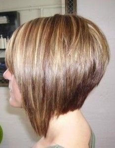 This is a graduated bob haircut. Whats the difference between an A-Line, Graudated Bob, Inverted Bob and Asymmetrical Bob? Read about these different types of bobs on HolleewoodHair.com