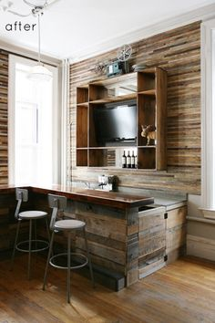 Perfect little coffee bar... minus the flat screen.