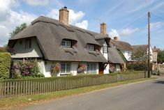 Thatched House in the county of Devonshire, England pieces) Thatched House, Thatched Roof, Cottages England, Houses In Ireland, House Of Beauty, English House, English Cottages, Seaside Resort, Interesting Buildings