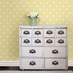 WallPops!® NuWallpaper™ Dottie Peel & Stick Wallpaper in Yellow - BedBathandBeyond.ca