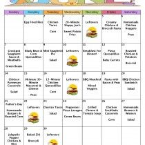 A Month Of Meals On A Budget – June 2015 No-Repeat Meal Plan – 30 Days Of Dinners For $134 With FREE Printable Grocery List And Recipes
