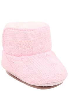 Tiny toes will be kept warm and snug in these soft, easy-to-wear knitted pop-on shoes. With a soft hook-and-loop tape fastening and a lovely fleece lining, t. Hook And Loop Tape, Baby George, Baby Family, Keep Warm, Latest Fashion For Women, On Shoes, My Girl, Snug, Slippers