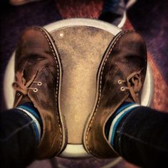 Bold socks, #Clarks Desert Boots Instagram photo by @coco_c0la
