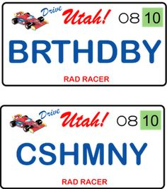 license plates Vanity License Plates, Car Tags, Personalized Plates, Vanity Plate, Little Boys, Utah, Happy Birthday, Scrapbooking, Sayings