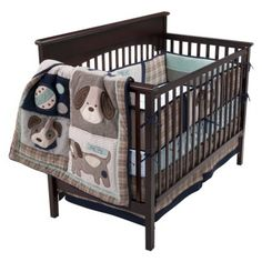 Show Doggies 4 piece bedding (Target) $179.99. Just concerned about non matching colors with crib sheet.