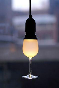 wine glass lighting