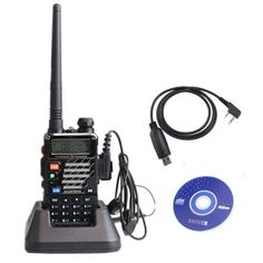 AGPtek® BaoFeng Newest Model UV-5RE 136-174/400-480 MHz Dual Band Dual Display FM Ham Two Way Radio + USB Programming Cable by AGPtek. $56.99. Main Functions: Dual band, dual display  A/B band independent operation Shortcut menu operation mode VFO & Memory channels scan Tri-color background light selectable 0-9 grades VOX selectable PTT & ANI ID FM radio and 25 stations storage 1750Hz Brust Tone Channel Monitor Battery Saver ROGER SET 25KHz/12.5KHz Switchable FM Radio (65.0M...