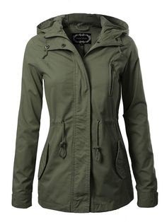 Jacket Outfit, Hoodie Jacket, Anorak Jacket, Fall Jackets, Jackets For Women, Short Jackets, Color Verde Militar, Very Short Dress, Cute Coats