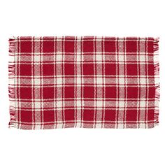 Breckenridge Burlap Plaid Placemat Set of 6 12x18