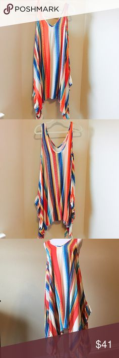 Anthropologie Summer Dress Anthropologie Summer Dress by Uncle Frank. It is a size Small But would easily fit a medium. Bright, fun, flows and even cuter in person EXCELLENT condition. Anthropologie Dresses