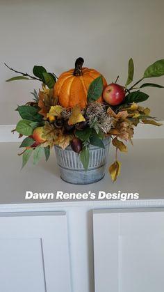 Fall Arrangements, Pumpkin Centerpieces, Diy Crafts, Apple, Seasons, Orange, Design, Apple Fruit, Make Your Own